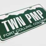 Rectangle Cut Glossy Vinyl Stickers for Fort Collins
