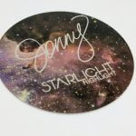 Brushed Alloy Circle Cut Stickers Jonny Starlight