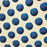 3D Epoxy Dome Stickers Small Blue