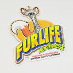 Glossy Coated White Vinyl Sticker For FurLife