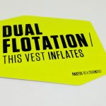 Screen Printed Full Color Vinyl Stickers Dual Flotation
