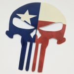Full Color Glossy Coated Die Cut Stickers Punisher