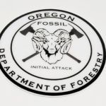12mil Heavy Duty Glossy Coated Vinyl Stickers for Oregon Department of Forestry