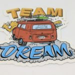 Full Color Glossy Coated Die Cut Vinyl Stickers for Team Dream #2