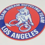 Full Color Glossy Coated Die Cut Vinyl Stickers for Team Dream