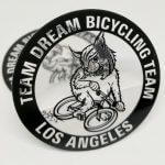 Transparent Vinyl Circle Cut Stickers for Team Dream