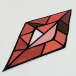 Glossy Coated 12mil Heavy Duty Vinyl Sticker with Hi-Tack adhesive Stained Glass Diamond