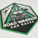 Glossy Coated Full Color Die Cut Vinyl Stickers For Road Warrior
