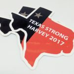 Full Color Die Cut Glossy Vinyl Stickers for Texas Strong Harvey 2017