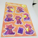 Full Color Kiss Cut Vinyl Sticker Sheets OneShot