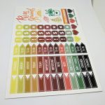 Full Color Custom Kiss Cut Vinyl Sticker Sheet for Passion Planner