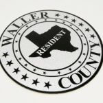 Full Color Reflective Vinyl Circle Cut Stickers for Waller County
