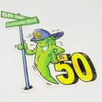 Full Color Die Cut Cut Glossy Coated Vinyl Stickers 50