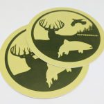 Satin Matte Full Color Circle Cut Vinyl Stickers RepYourWild