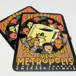 Rectangle Cut Glossy Coated Full Color Vinyl Stickers Metropolis Coffee 2