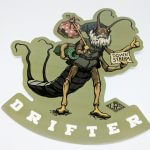 Full Color Glossy Coated Die Cut Vinyl Stickers Drifter