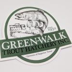 Die Cut Glossy Coated Full Color Vinyl Stickers Green Walk