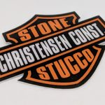 Die Cut Glossy Coated Full Color Vinyl Stickers Christensen Const.