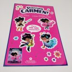 Custom Full Color Kiss Cut Glossy Vinyl Sticker Sheets Carmen