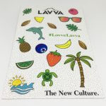 Full Color Glossy Coated Kiss Cut Vinyl Sticker Sheets Lavva