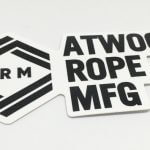 Die Cut Glossy Coated Full Color Vinyl Sticker Atwood Rope MFG ARM