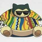 Full Color Die Cut Glossy Coated Vinyl Sticker Snorlax