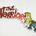 Full Color Brushed Alloy Die Cut Vinyl Stickers The Warriors