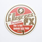 Full Color Satin Matte Coated Circle Cut Vinyl Stickers 6 Degrees