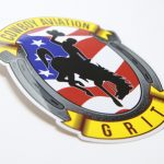 Glossy Coated Die Cut Full Color Vinyl Stickers Cowboy Grit