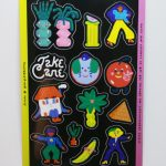 Full Color Kiss Cut Vinyl Sticker Sheet Take Care
