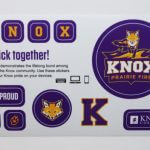 Full Color Glossy Coated Kiss Cut Sticker Sheet Knox