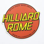 Full Color Die Cut Glossy Coated Vinyl Stickers Hilliard Rome Circle