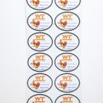 Full Color Glossy Coated Kiss Cut Oval Sticker Sheets WT