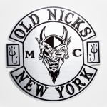 Old Nicks Brushed Alloy stickers