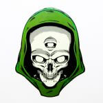 Full color skull stickers