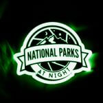 Glow In The Dark Stickers for National Parks at Night