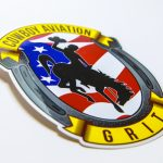Cowboy aviation full color stickers