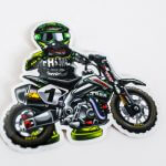 Factory Minibikes glossy vinyl stickers
