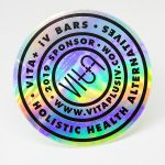 Vitaplusiv holographic stickers