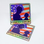 Support Our Troops Custom Holographic Stickers
