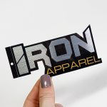 Metallic Brushed Alloy Foil Stickers Hang Tag stickers