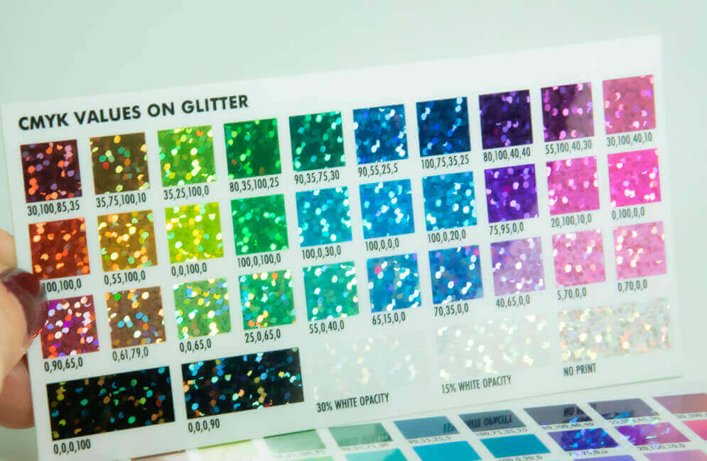 Glitter colored stickers