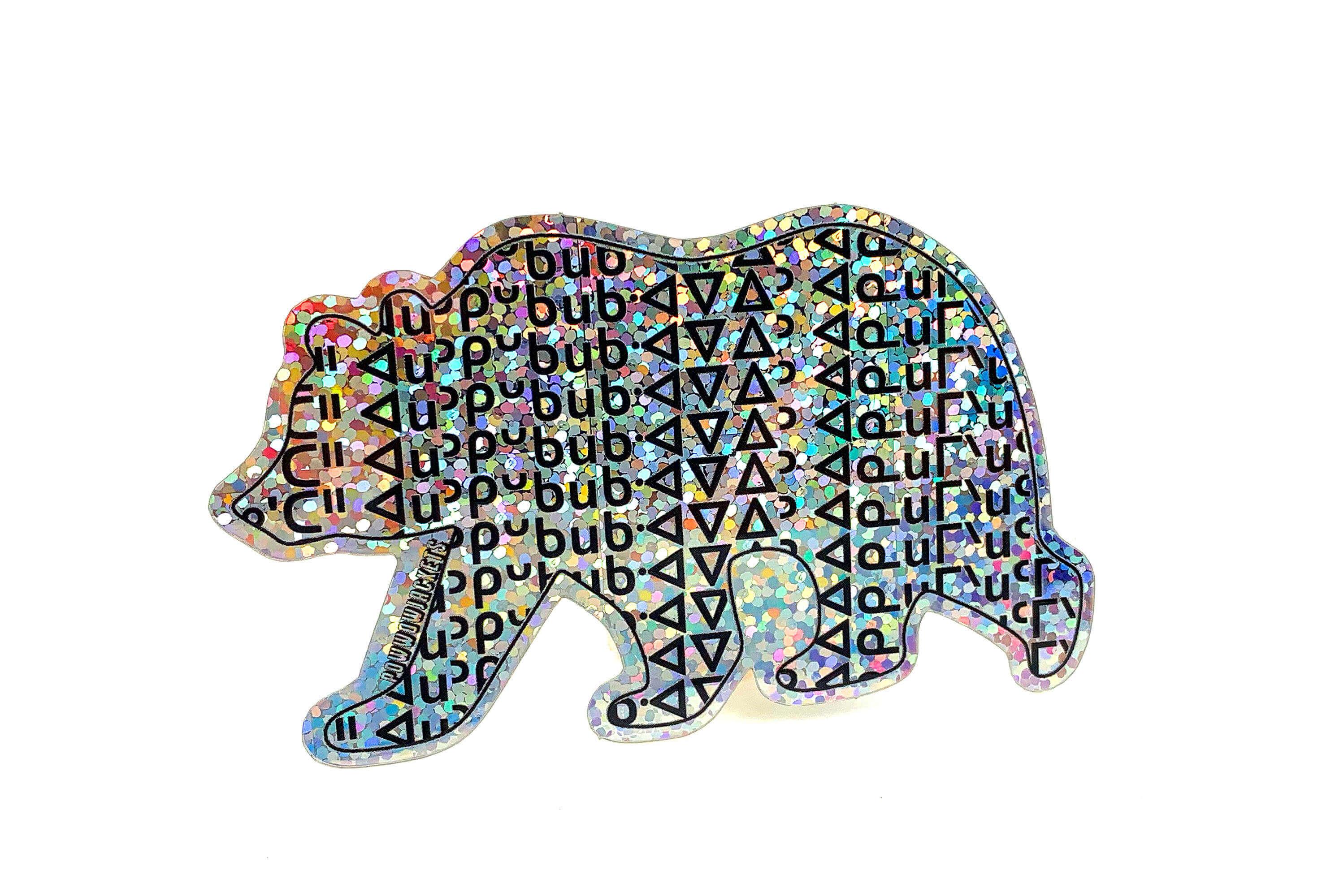 Custom Die Cut Glitter Stickers