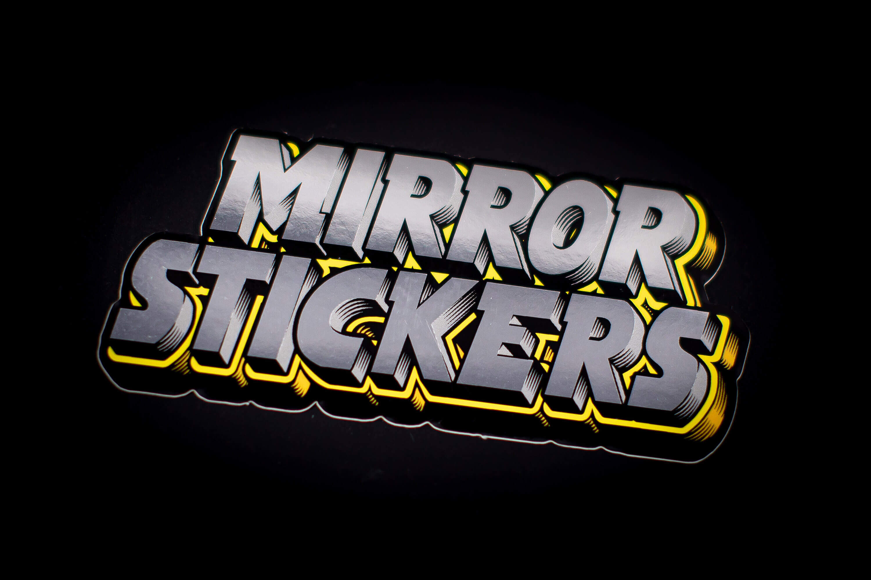 Mirror Metallic Foil Stickers