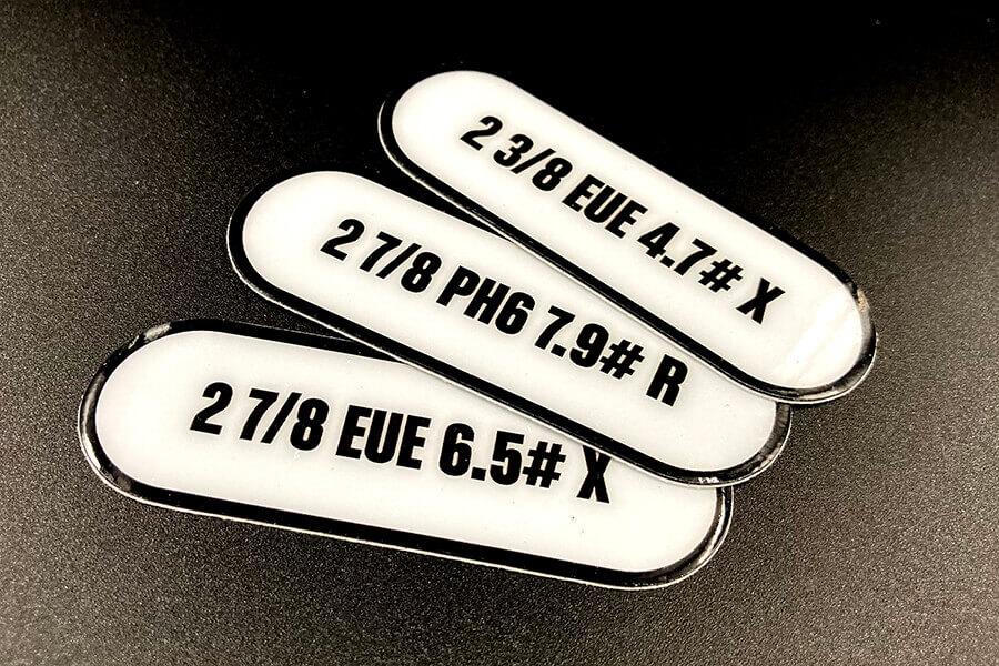 Heavy Duty Glossy Single Stickers