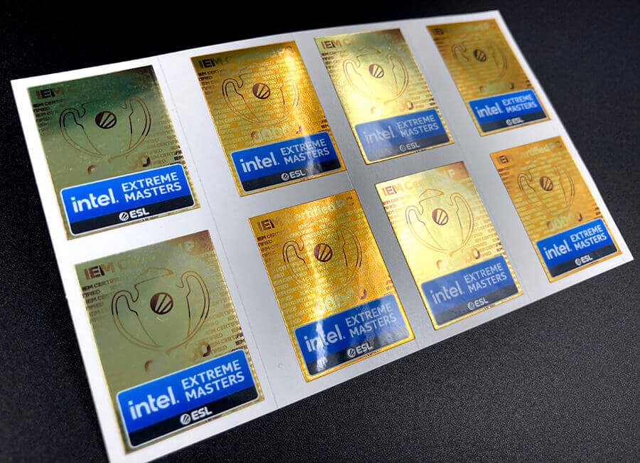 Gold Mirror Full Color Sticker Sheets