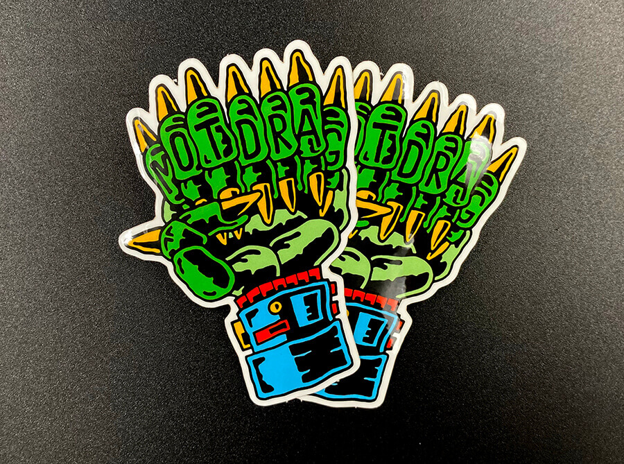 Die Cut Glossy Coated Custom Stickers