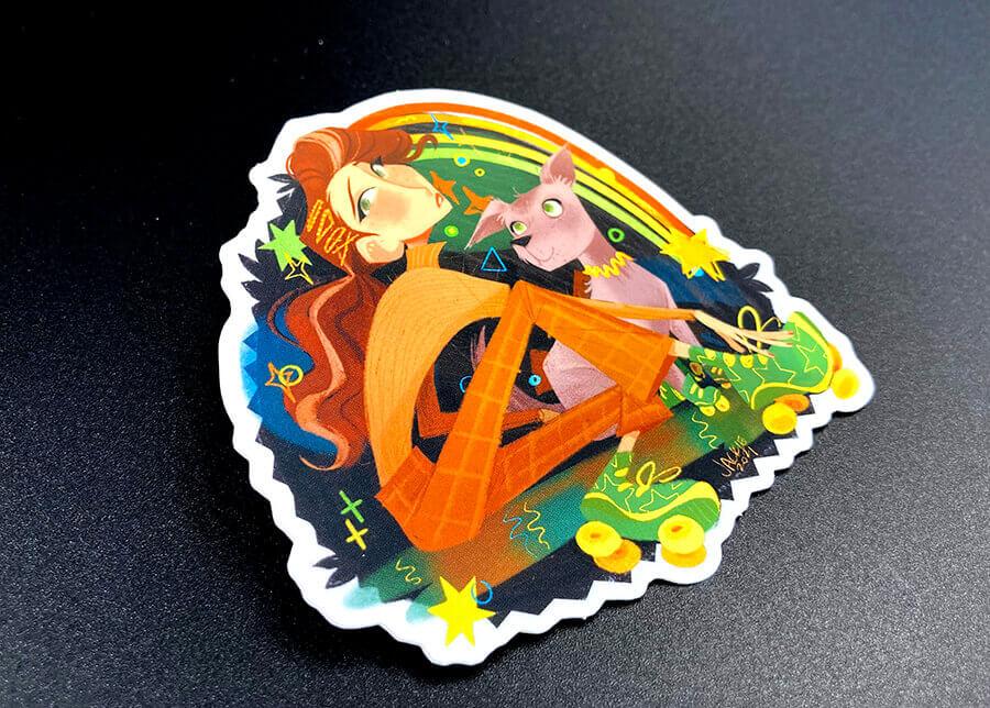 Soft Matte Full Color Die Cut Sticker