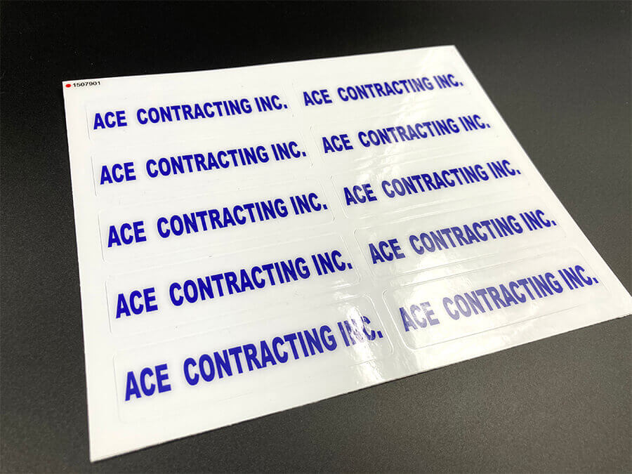 Heavy Duty Sticker Sheets Glossy Coated