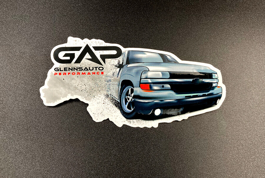 Full Color Glossy Coated Die Cut Vinyl Stickers